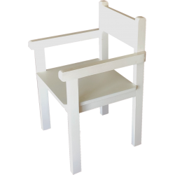 Fauteuil blanc Made in France