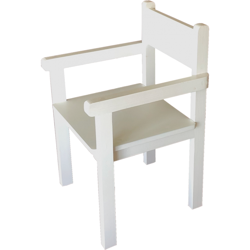 Fauteuil blanc Made in France Anciennes Collection Petit Pouce Factory
