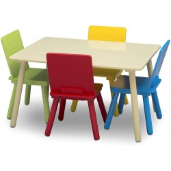 Lot table et chaises enfant multicolores Mobilier Delta Children