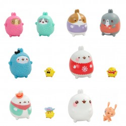 Molang figurines en lot complet Molang Molang