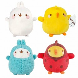 Molang peluche lot de 4 20cm assorties Peluches Molang
